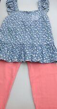Girls denim top and leggings age 11-12