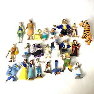 Vintage Disney PVC Figures Lot Applause Little Mermaid Snow White Aladdin Beast