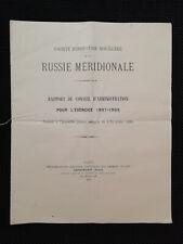 Société d'industrie houillère de la Russie Méridionale - Rapport 1908 - Tsar