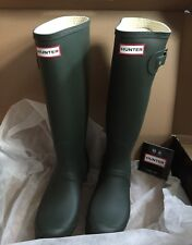 HUNTER WELLINGTON BOOTS SIZE 8/42 WELLIES OLIVE ARMY GREEN TALL ORIGINAL OUTDOOR