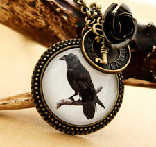 Cabujón con colgante Collar Steampunk Victoriana Raven-Corneja GOTH GOTHIC Pájaro