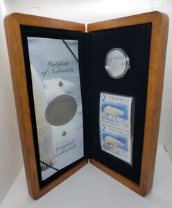 Canada 2004 $2 The Proud Polar Bear Sterling Silver Coin & Stamp Set