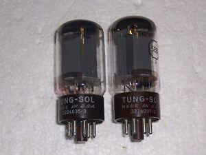 2 TUNG-SOL 5881 6L6 RADIO VACUUM TUBES, TV-7 TESTED