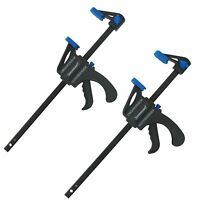 2 x 150mm Ratchet Mini Speed Clamps Woodworking Carpentry Crafts DIY Home