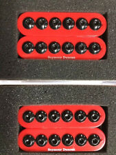 Seymour Duncan Invader 6 String Set In Red SH-8 Shop Floor Custom Color