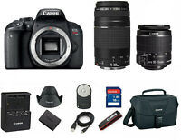 Canon T7i EOS Rebel DSLR Camera EF-S 18-55mm IS and 75-300mm Lens (3 Lenses) 32