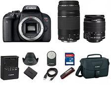 Canon T7i EOS Rebel DSLR Camera EF-S 18-55mm IS and 75-300mm Lens (3 Lenses) 32