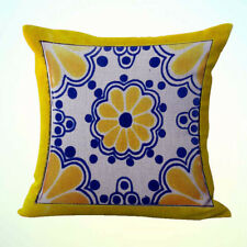 Us Seller-decorative living room pillows Mexican Spanish talavera cushion cover