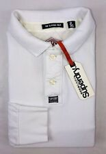 SuperDry White Longsleeve Classic Pique Polo Size Mens 2XL NWT 39.99$