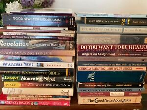 Lot of 31 religious books Norman Vincent Peale; Oral Roberts; Inspirational
