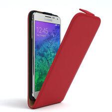 Tasche für Samsung Galaxy Alpha Flip Case Schutz Hülle Cover Rot