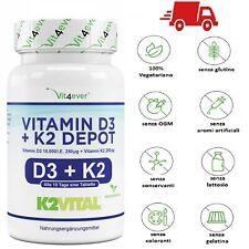 Vitamina D-3 D3 10000 UI + K2 200 mcg 180 Compresse VITAMINE pastiglie