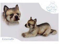 Lying Wolf Cub  Plush Soft Toy by Hansa 6741
