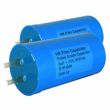 2 x 8uF 900 Volt Pulse Capacitors - for electric fence energisers (CAP010)