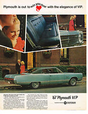 Vintage 1967 Magazine Ad Plymouth VIP Luxury Car That Does What Its Suppose To