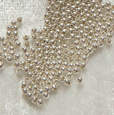 Pack of 100 ~ 2mm Sterling Silver Round Spacer or Crimp Seamless Beads