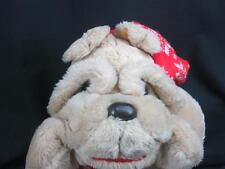 JUMBO TARGET DOG KRINKLES CHRISTMAS BULL DOG KNIT HAT SCARF COMMONWEALTH PLUSH