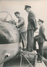 ANGLETERRE 1955 - Hussein de Jordanie Avion Météor Militaires Londres - PR 491