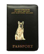 German Shepherd Dog Gift - Passport Cover PU Leather - Fits Uk Passports