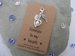 Baby Memorial Charm Gift - Baby Loss / Miscarriage / Memory Box Keepsake  Heart