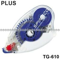 Plus Glue Tape Double Sided Vellum Adhesive Refillable Dispenser [TG-610] x 1