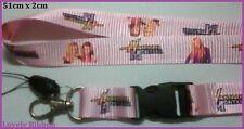 1 x HANNAH MONTANA, Lanyard, Singer, Keys, Neck strap, School ID, Gocard, Phone
