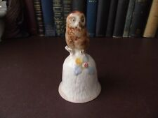 Porcelain Bell With Owl Handle