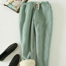 Women Sherpa Harem Pants Fleece Lined Trousers Winter Warm Casual Thick NR9
