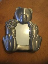 Cute Metal Mini Picture Frame, Valentine  Love Teddy Bear , Hearts and Flowers