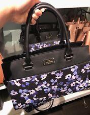 NWT Kate Spade Caley Grove Street Fabric Satchel Handbag WKRU4572- Hydrangea
