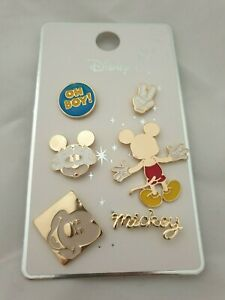 Official Disney Mickey Minnie Mouse 6 x Primark Pin Badges Badge Oh Boy