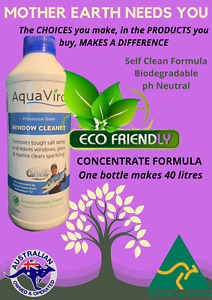 ECONOMICAL Window Glass Surface Cleaner - Australian Made - Spray on Hose Off