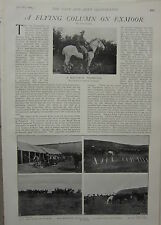 1903 BOER WAR ERA PRINT FLYING COLUMN ON EXMOOR IMPERIAL YEOMANRY RECRUIT DRILL