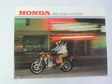 NOS 1981 CX500 Custom Honda Dealer Brochure L206