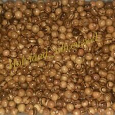 60 Olive Wood 8mm Round Beads Polished Rosary Wooden Jewelry Bethlehem Jerusalem