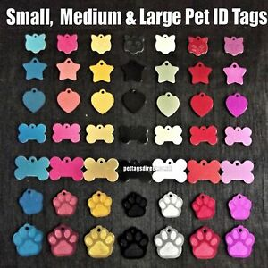 DOG & CAT Pet id Tags Animal Name Disc Blue, Red DEEP ENGRAVED at the BEST PRICE