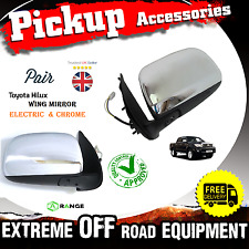 Toyota Hilux Pick-Up 05-2010 Electric Wing Mirror Chrome Pair O/S N/S MK6-M9M10