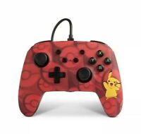 PowerA Pokemon Enhanced Wired Controller Nintendo Switch Pikachu Red New