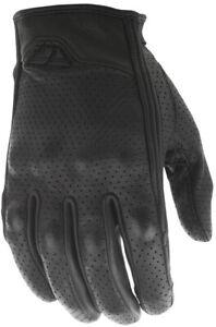 Fly Racing Men's Thrust Leather Gloves (Black) XXL