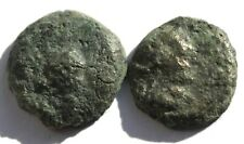 Cleopatra VII of Egypt LOT OF 2 COINS Philopater Paphos Cyprus Ingot NICE COIN