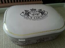 Juicy Couture Pink Tin Box Case for Storage of Charms, & other jewelry