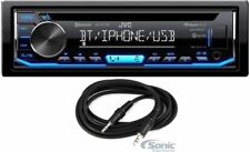 JVC KD-TD70BT Bluetooth Stereo CD Player Car In-Dash Receiver+ 3.5mm AUX Cable
