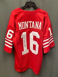 Joe Montana #16 Signed 49ers Jersey Autographed AUTO Sz XL JSA COA HOF