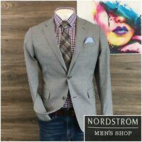 Nordstrom Mens Sport Coat Blazer Two Button Wool Sport Jacket Size 40R 2 Vent