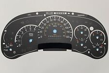 06 FACTORY OEM GM H2 HUMMER SPEEDOMETER INSTRUMENT CLUSTER GAUGE FACE INLAY ONLY