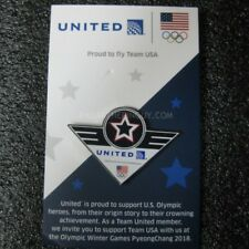 2018 PyeongChang Winter Olympic United Airlines Team USA Pin