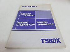 OEM Suzuki TS80X TS 80 X Owner's Manual (EN, FR, GE) PN 99011-13721-01C
