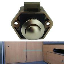 Mini Plastic Push Button Door Knob Lock Latch Caravan Motor Home Camper Cupboard