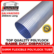 "54mm (2 1/8"")  Universal Flexible Exhaust Repair Tube Polylock Galvanised 0.25M"