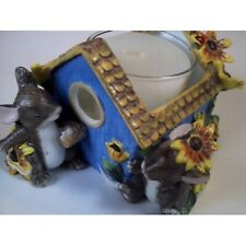 Charming Tails By Dean Griff - Birdhouse Votive Holder - Ceramic